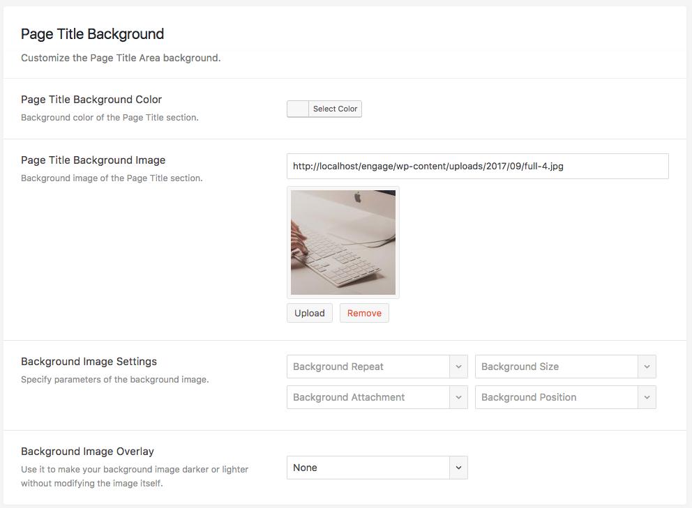 Engage Theme Documentation